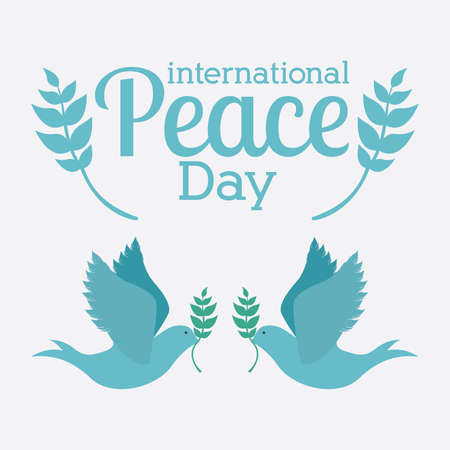 peace day: Peace design over white background, vector illustration. Illustration