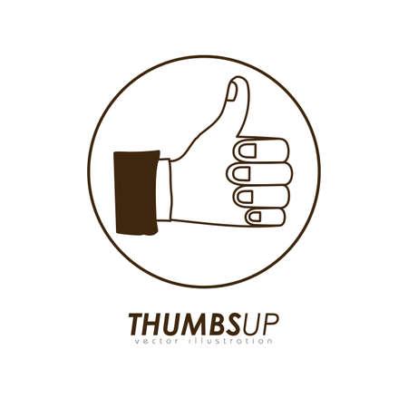finger signals: Hands design over white background, vector illustration.