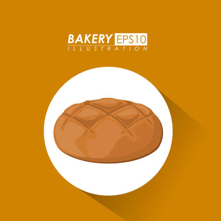 yelllow: Bakery design over yelllow background, vector illustration.