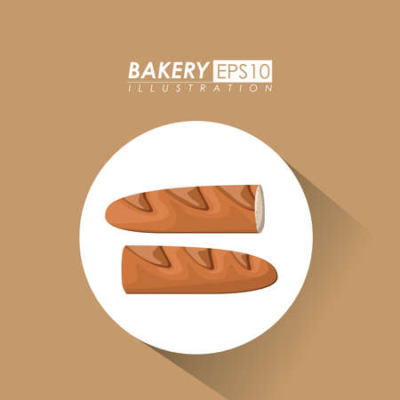 Bakery design over brown background, vector illustration. Vector
