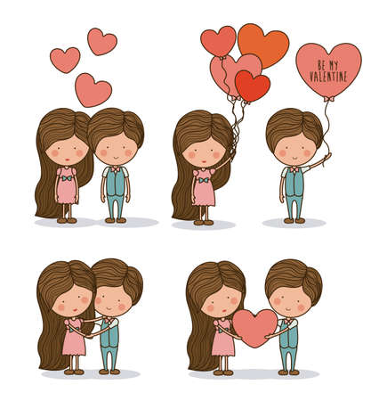 Romantic design over white background, vector illustration Vector