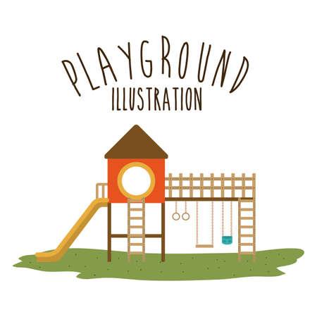 on playground: Playground design over white background, vector illustration.