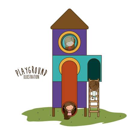 fairground: Playground design over white background, vector illustration.