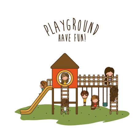 playground: Playground design over white background, vector illustration.