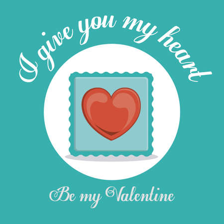 be happy: Love design over blue background ,vector illustration.