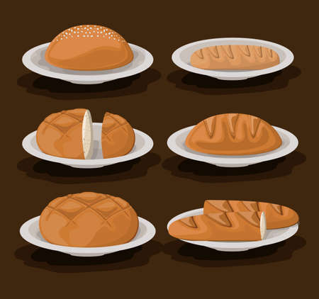 Bakery design brown background, vector illustration. Vector