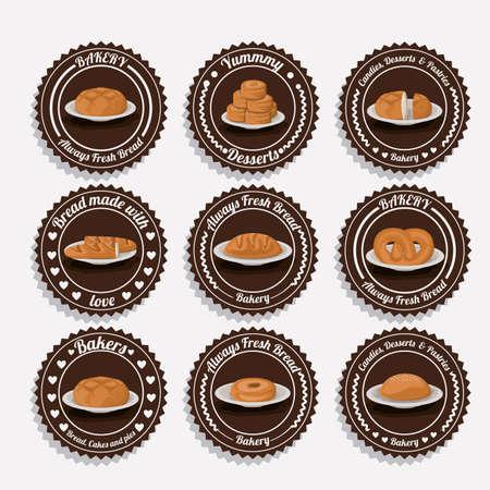 Bakery design white background, vector illustration. Vector
