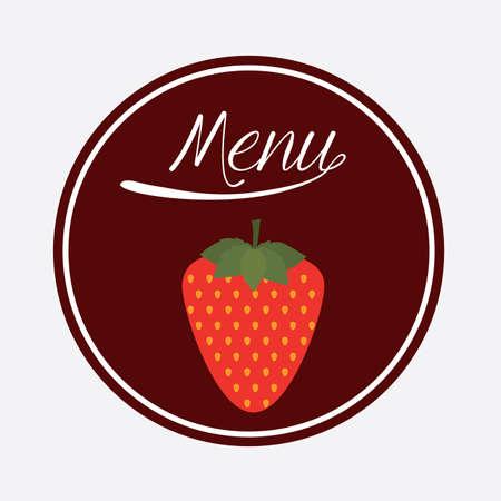 nutritive: Food design over white background, illustration.
