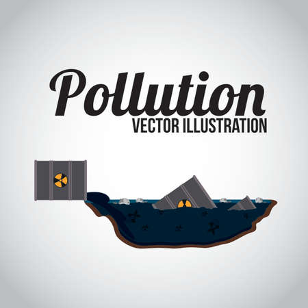 environmental contamination: Pollution design over white background, illustration. Illustration