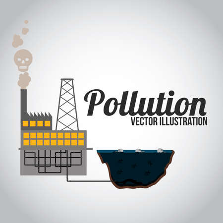 contamination: Pollution design over white background, illustration. Illustration