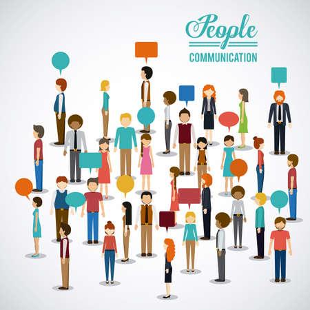 People design over white background, illustration. Stock Illustratie