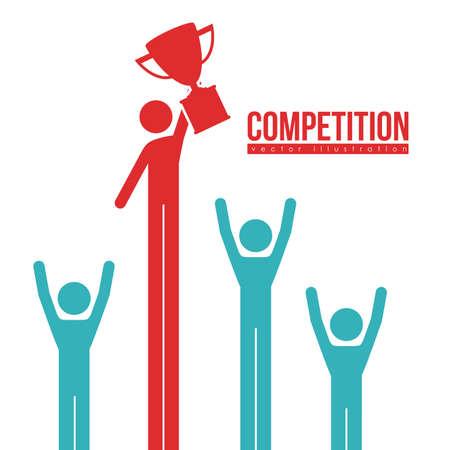 champ: Competition design over white background, illustration.