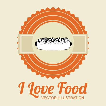 aliment: Food design over beige background, illustration.