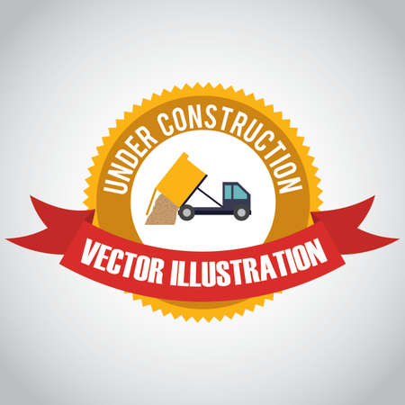 recondition: Construction design over white background ,illustration.