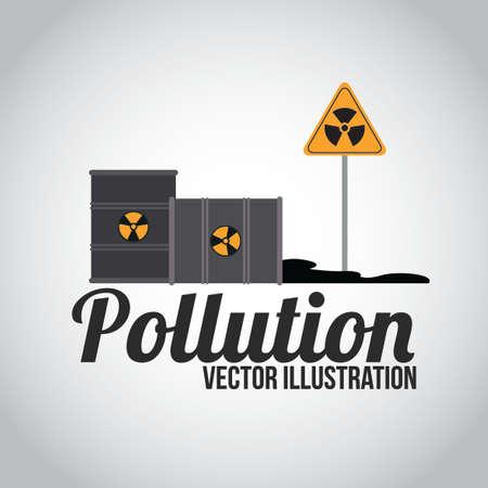 toxic barrels: Dise�o de la contaminaci�n sobre el fondo blanco, ilustraci�n. Vectores