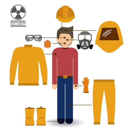 safety googles: Security design over white background, vector illustration.