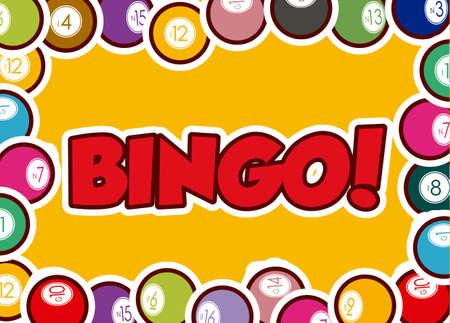 Bingo design over yellow background, vector illustration.