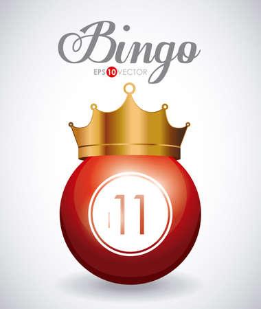 Bingo design over white background, vector illustration.