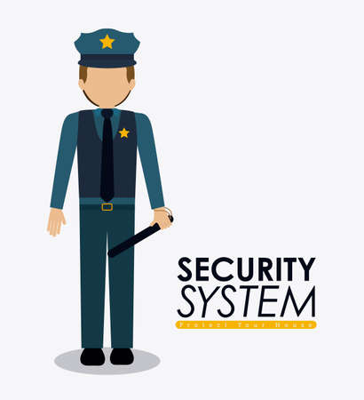 Security design over white background, vector illustration.