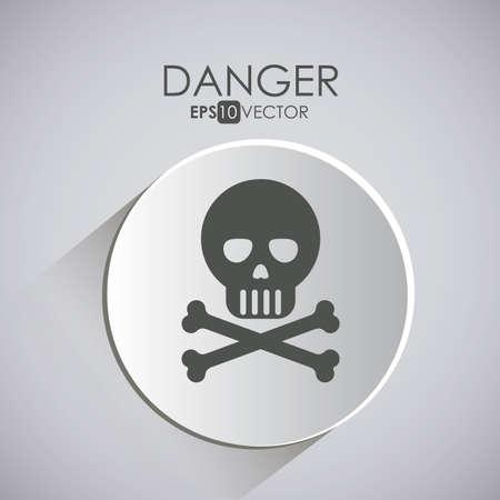 dangerous construction: Security design over gray background, vector illustration. Illustration