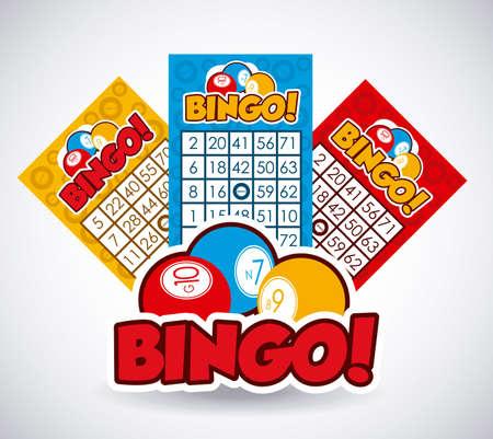 bingo: Diseño Bingo sobre fondo blanco, ilustración vectorial. Vectores