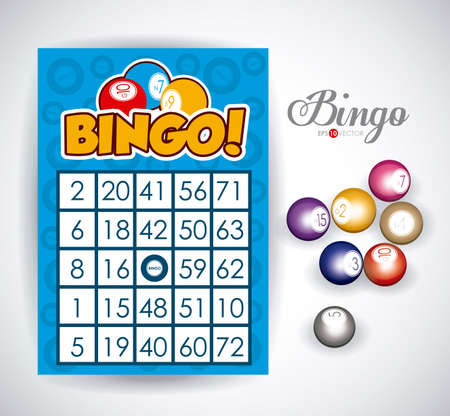 Bingo design over white background, vector illustration.