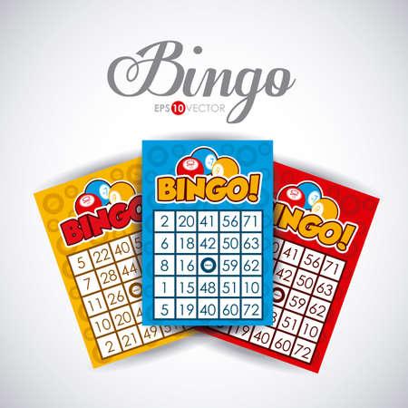 bingo: Bingo design over white background, vector illustration.