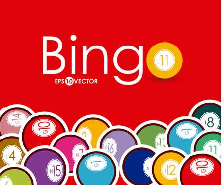 Bingo design over whiteb background, vector illustration.