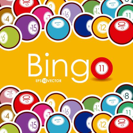 Bingo design over whiteb background, vector illustration. Vettoriali