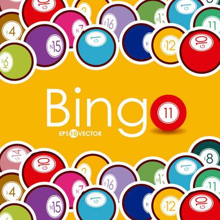 Bingo design over whiteb background, vector illustration. Illustration
