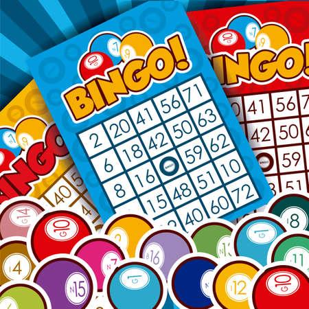 Bingo design over whiteb background, vector illustration.  イラスト・ベクター素材