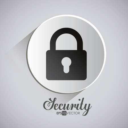 encryption icon: Security design over white background, vector illustration.