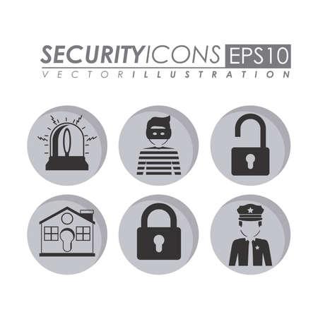 Security design over white background, vector illustration.