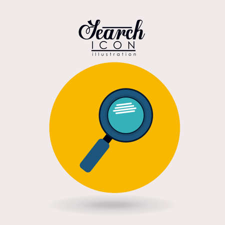 magnification: Search design over white background, vector illustration.