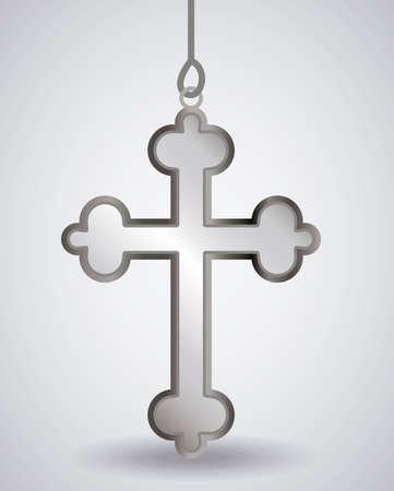 testament: christianity design over white background, vector illustration. Illustration