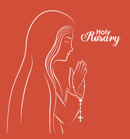 christianity: christianity design over red background, vector illustration.