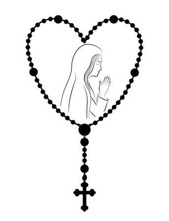 cristianismo: dise�o cristianismo sobre el fondo blanco, ilustraci�n vectorial.