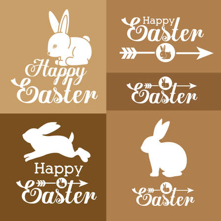 april beautiful: Happy easter card design, vector illustration.