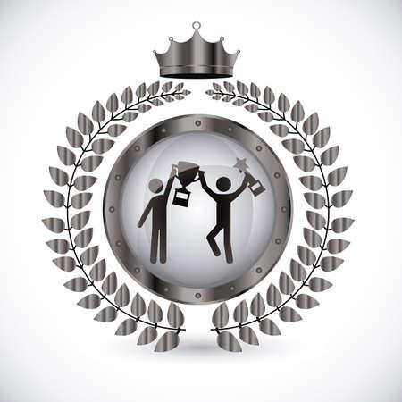 Championship design over white background, vector illustration. Vector
