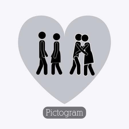 heterosexuality: Couple design over white background