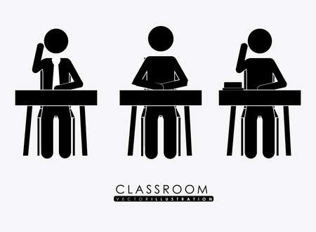 class room, desing over white background, vector illustration Illustration