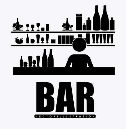 vermouth: bar, desing over, white background Illustration