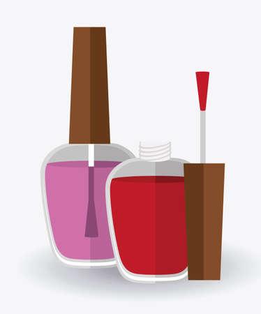 make up design over white background, vector illustration Vettoriali