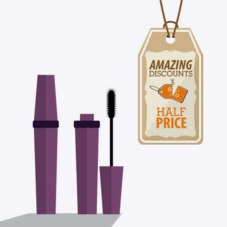 desing: make up desing over white background, vector illustration