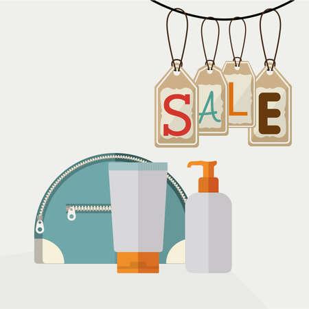medical shower: make up design over white background, vector illustration Illustration