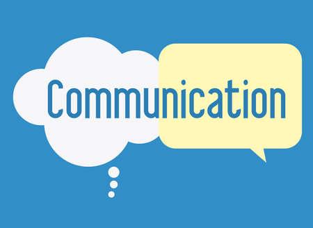 clound: communicate, talk, desing over, blue background, vector illustration