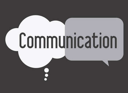 clound: communicate, talk, desing over, white black  background, vector illustration Illustration