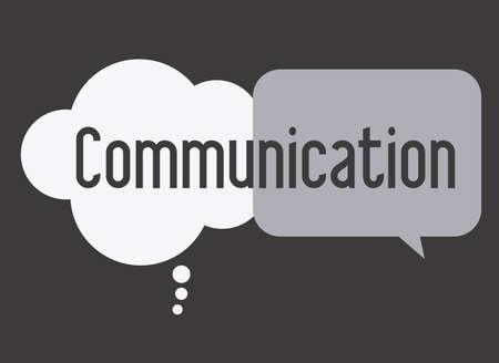 communicate, talk, desing over, white black  background, vector illustration Illustration