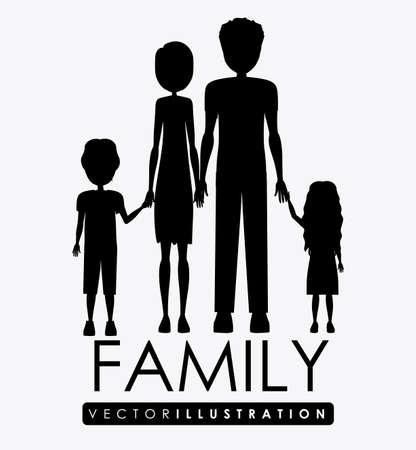 familiy: Familiy, desing over white background, vector illustration.