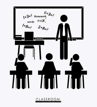 class room: class room, desing over white background, vector illustration Illustration